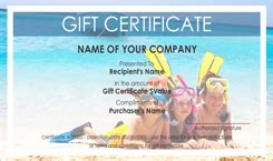 similiar vacation certificate template keywords