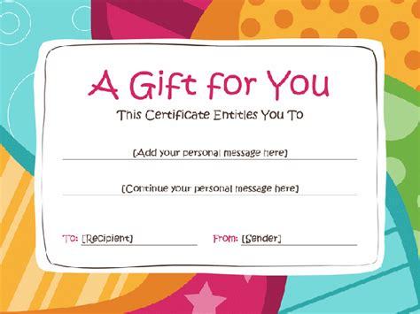 customizable gift certificate template 76 creative custom certificate design templates free