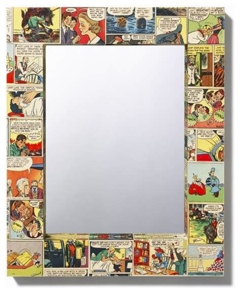 Comic Decoupage - comic book decoupage mirror baby baby baby