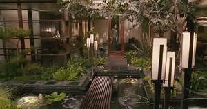 house design inside garden indoor garden with pond and green palnts ideas decor with lantern olpos design