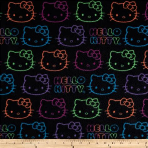 hello kitty neon wallpaper hello kitty fleece neon doodle allover black discount