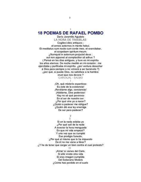 poemas de amor rafael cadenas calam 233 o poemas de rafael pombo