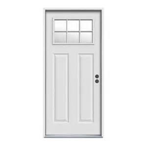 Reliabilt Exterior Doors Reliabilt Craftsman 6 Lite With Auralast Frame Inswing Steel Entry Door Lowe S Canada