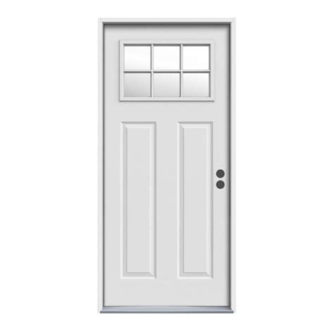 Exterior Steel Doors And Frames Reliabilt Craftsman 6 Lite With Auralast Frame Inswing Steel Entry Door Lowe S Canada