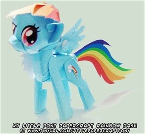 Rainbow Dash Papercraft - my pony papercraft rainbow dash papercraft