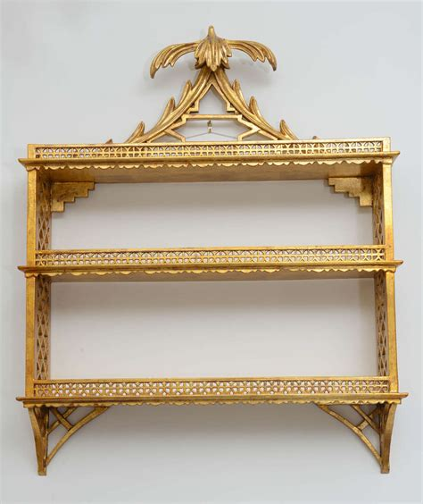 Chinoiserie Wall Shelf gilded chinoiserie pagoda wall shelf at 1stdibs