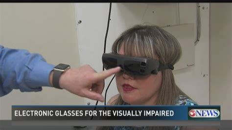 Electronic For The Blind electronic glasses for the visually impaired brought to