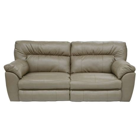catnapper reclining sofa catnapper nolan leather power reclining sofa in putty