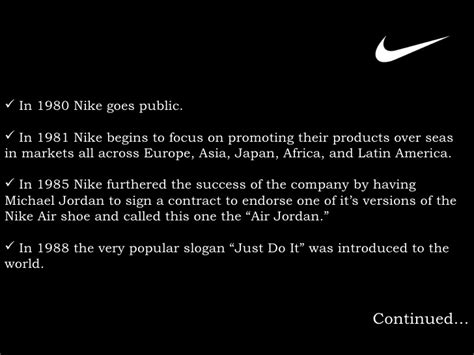 nike powerpoint template nike inc presentation