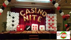 casino dekoration balloon decorations for weddings birthday