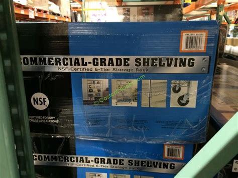 Nsf 6 Tier Commercial Grade Shelf by Nsf 6 Tier Commercial Grade Shelf Costcochaser