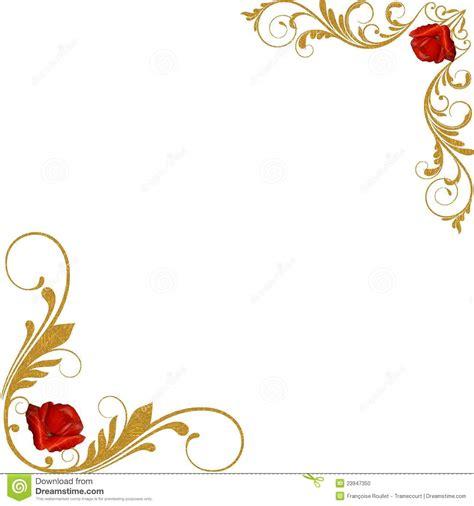 Decorative Corner by Roses Gold Decorative Corners Stock Photo Image