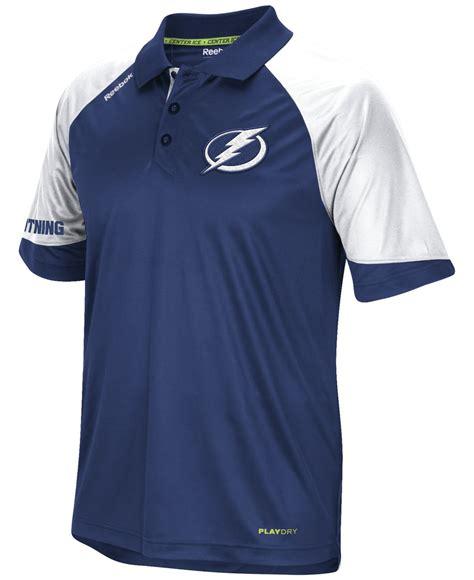 Tebok Polos lyst reebok s ta bay lightning center polo in blue for
