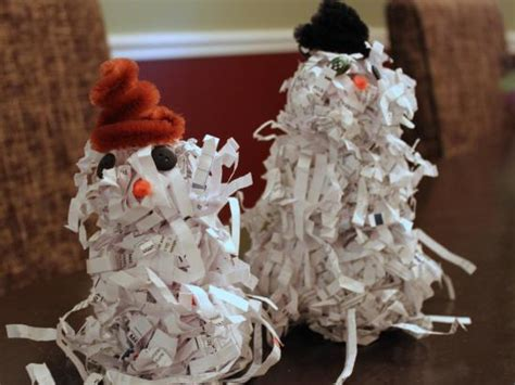shredded paper crafts shredded paper snowman crafts activities for