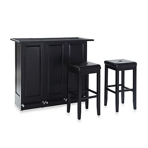 Folding Bar Stools Bed Bath Beyond Crosley Folding Bar With 29 Inch Matching Upholstered Square Seat Stools Bed Bath Beyond