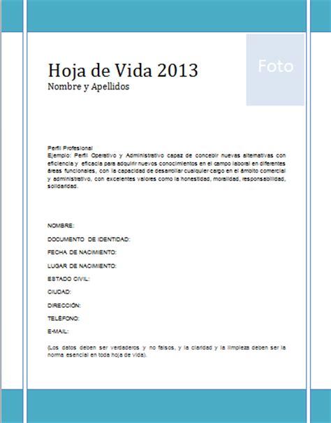 Modelo De Curriculum U Hoja De Vida Descargar Formato Hoja De Vida 2014 Editorial Colombia