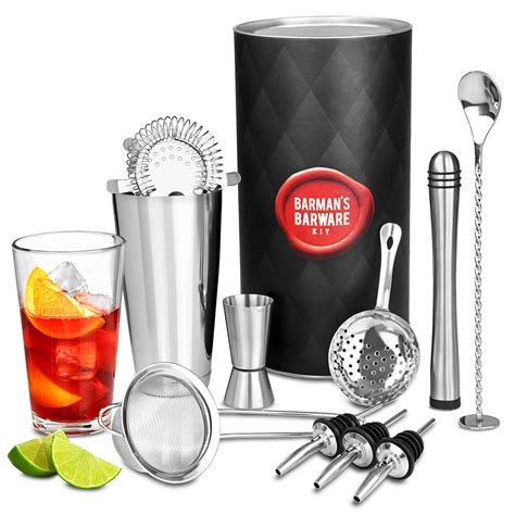 cocktail set barman s barware kit with boston cocktail shaker 3