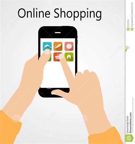 eps format online online shopping flat concept vector illustration stock