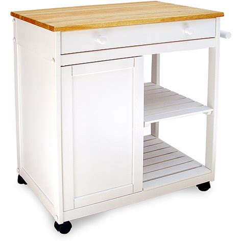 hollow kitchen cart white walmart