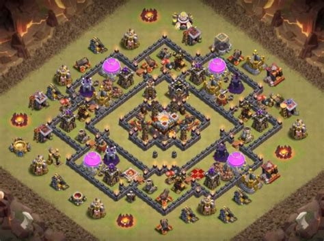th9 base with war bomb tower 2016 8 best coc th9 war base anti valkyrie 2017 bomb tower