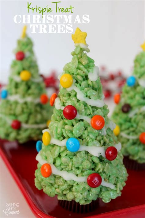images of christmas treats krispie treat christmas trees