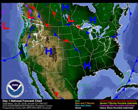 us weather on map national weather map