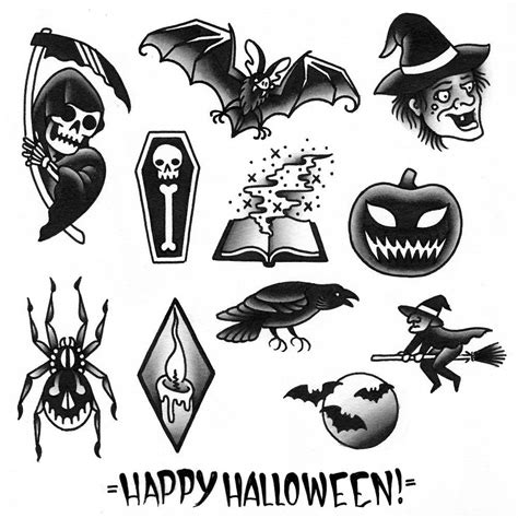 halloween tattoo flash flash www pixshark images