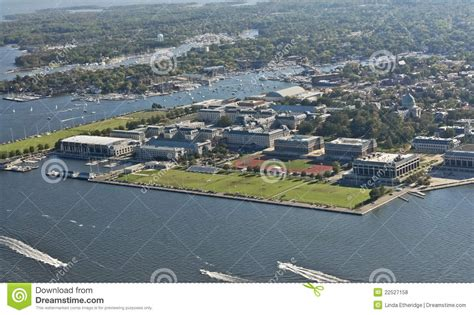 boat graphics annapolis aerial view of us naval academy royalty free stock photos