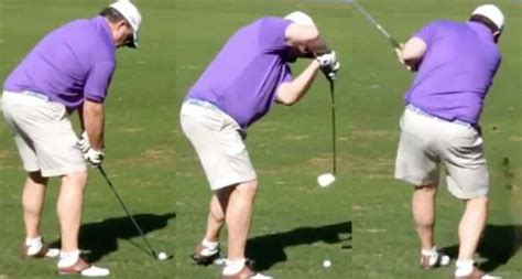 terrible golf swing 10 terrible amateur swings