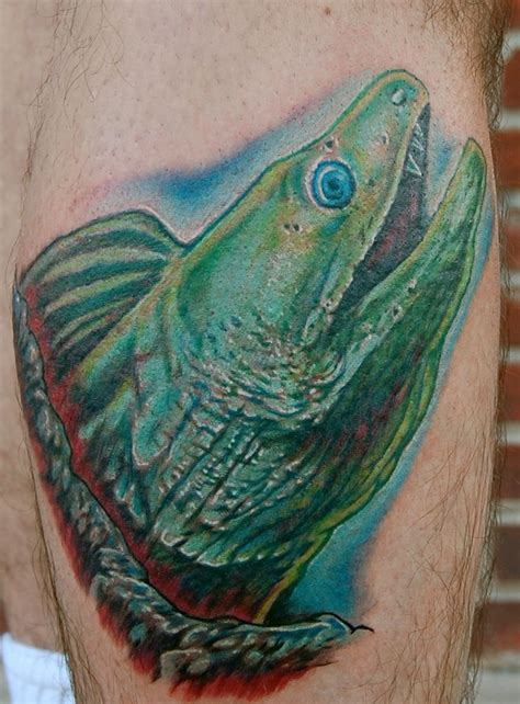 eel tattoo green moray eel picture