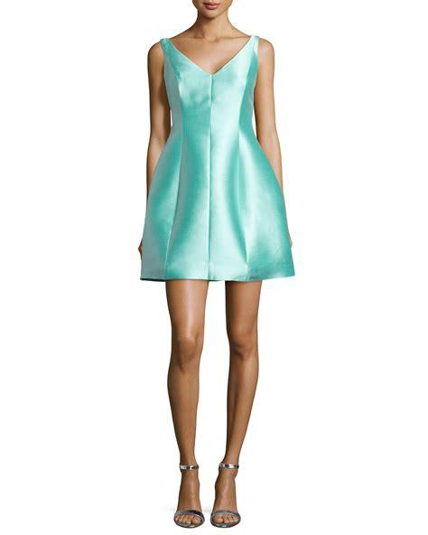 zara brand new blue silk dress sz s rrp 39 party wedding ascot kate spade structured silk mini dress in blue lyst