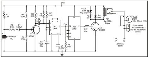 Bohlam Saklar Sensor Tepuk dua skema merakit saklar lu otomatis dengan perintah suara atau tepuk skema rangkaian elektro