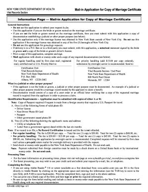 Nys Marriage License Records Marriage License Application Ny Fill Printable