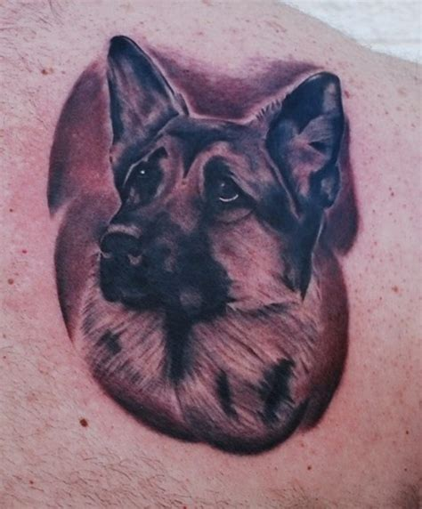 the 15 coolest german shepherd tattoo designs in the world