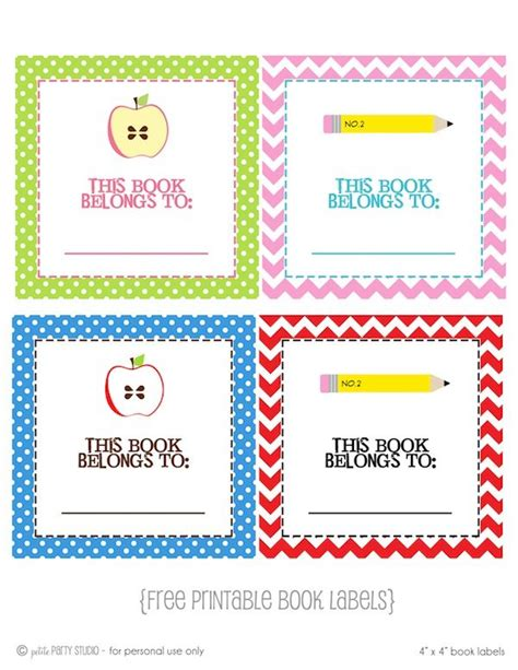 printable free books free printable book label school pinterest