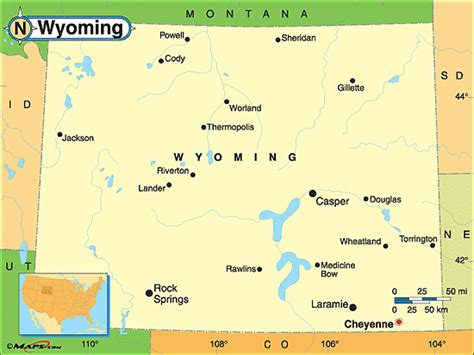 political map of wyoming wyoming political map by maps from maps world s