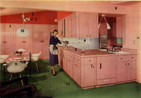 1953 Formica pink kitchen   today's kitchen flashback