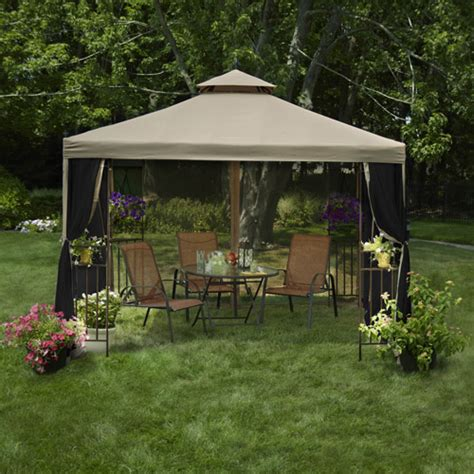 patio gazebo mainstays laketon patio gazebo 10 x 10 walmart