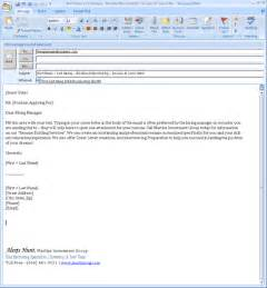 cover letter emails emailresume