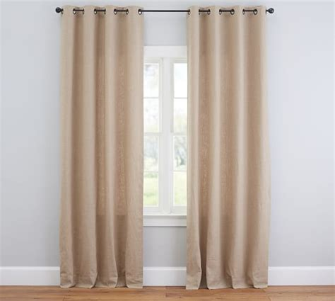 emery drapes emery linen cotton grommet drape blue dawn pottery barn