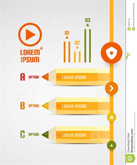 eps format ppt modern pencil presentation template stock photography