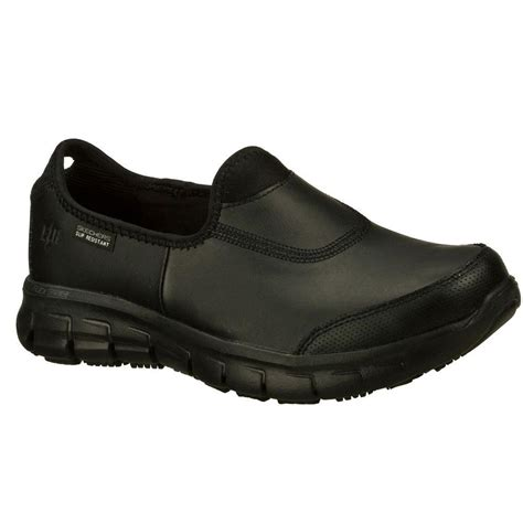 Skechers Size 8 by Skechers Sure Track Size 8 5 Black Leather Work Shoe