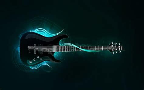 wallpaper blue guitar blue music neon l rock guitars 1680x1050 wallpaper