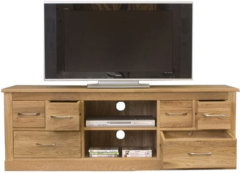 tv cupboard mobel oak widescreen television cabinet