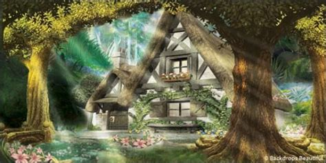 mystic forest cottage backdrops mystic forest