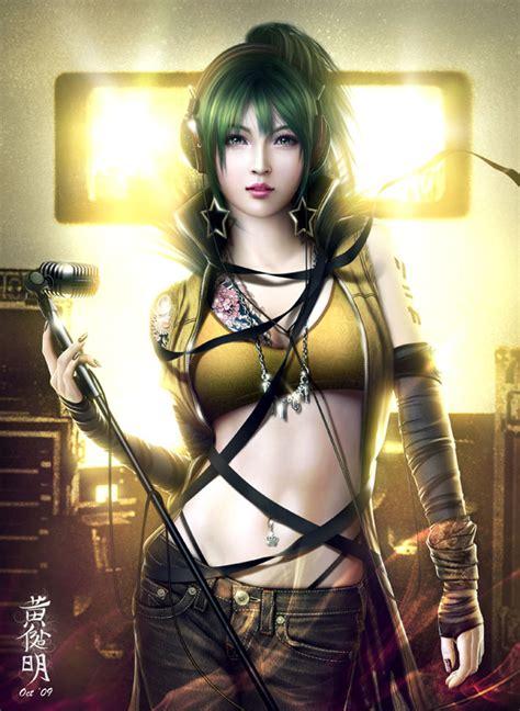 Liontin Gambar Wajah Wanita Rocker bego desain anime mirip nyata paling keren
