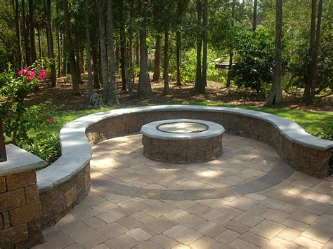 patio firepit hardscape package 3 brick paver patio pergola firepit