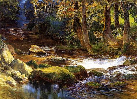 Landscape Photography Rivers File Bridgman Frederick Arthur River Landscape With
