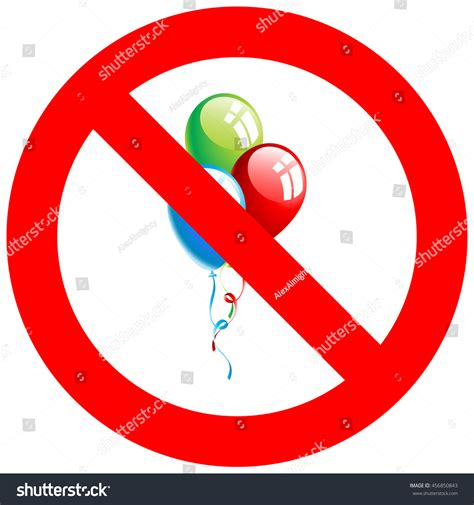 To Ban Or Not To Ban by Stop Ban Sign Balloons Icon Isolated Stock Vector
