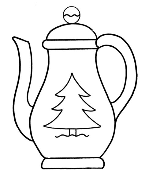 Teapot Coloring Pages Teapot Coloring Page